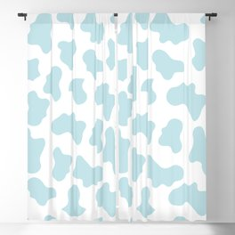 Baby Blue Cow Print Pattern Blackout Curtain