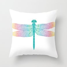 dragonfly v1 Throw Pillow