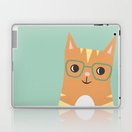 Tabby Cat with Glasses Laptop & iPad Skin