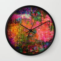 happiness Wall Clocks featuring Happiness by haroulita