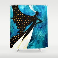dreamcatcher Shower Curtains featuring Dreamcatcher by Verismaya