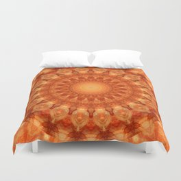 Mandala orange  Duvet Cover