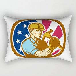 American Handyman USA Flag Icon Rectangular Pillow