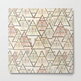 Pattern Houses Metal Print