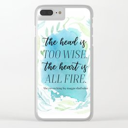 the head and the heart Clear iPhone Case