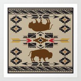 American Native Pattern No. 180 Art Print