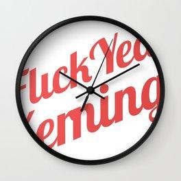 Flick yeah Kerning Wall Clock