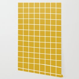 Minimalism Window Pane Grid, Mustard Yellow Wallpaper