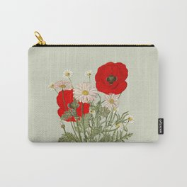 A country garden flower bouquet -poppies and daisies Carry-All Pouch