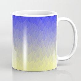 Sky and Sun -- Blue yellow ombre flames Coffee Mug