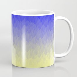 Sky and Sun -- Blue yellow ombre flames Coffee Mug
