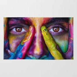 Rainbow girl Rug
