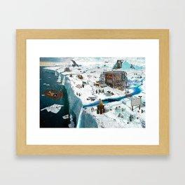 Save the Ice Framed Art Print