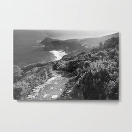 Path along cliffs of Cape Point, South Africa Metal Print