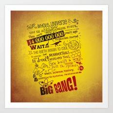 Big Bang Theory Lyrics Art Print