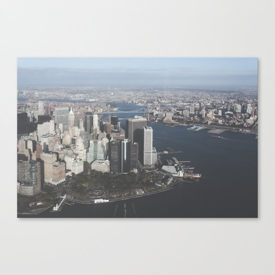 NYC Downtown Aerial Canvas Print