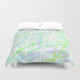 I Lost at Paintball Abstract Streaks Duvet Cover
