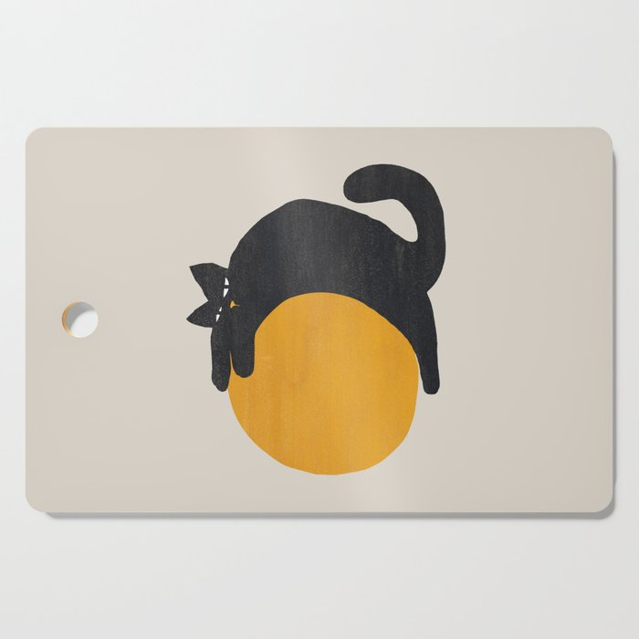 Cat with ball Cutting Board