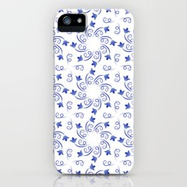 Floral round wreaths of blue color iPhone Case
