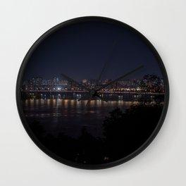 Night Kyiv Wall Clock