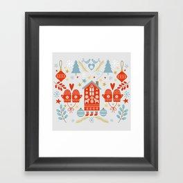 Laplander Winter Holiday Framed Art Print