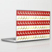 reindeer Laptop & iPad Skins featuring Reindeer by Laura Maria Designs