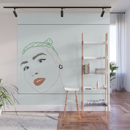 green haired babe Wall Mural