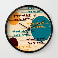 birdy Wall Clocks featuring birdy by BruxaMagica_susycosta