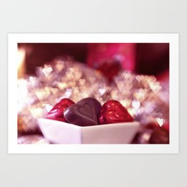 I Love Chocolate and Valentines Day Art Print
