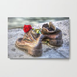 Shoes On The Danube Bank Metal Print