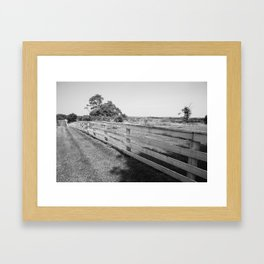 Field and Fence Framed Art Print