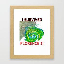 I Survived Hurricane Florence!!! Framed Art Print