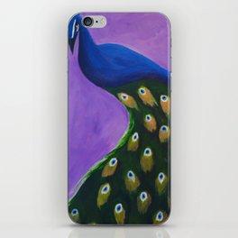 Peacock on a Cupboard iPhone Skin