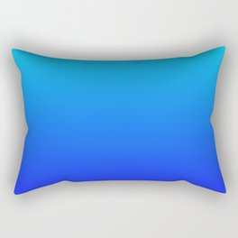 Blue Gradient Rectangular Pillow