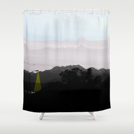 Under a Watchful Sky Shower Curtain