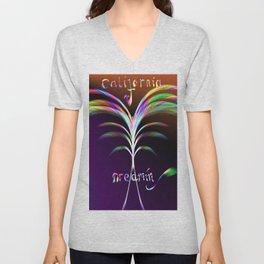 California Dreamin Abstract Palm Tree Unisex V-Neck