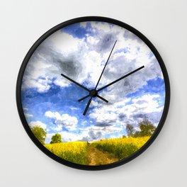 The Farm Path Art Wall Clock