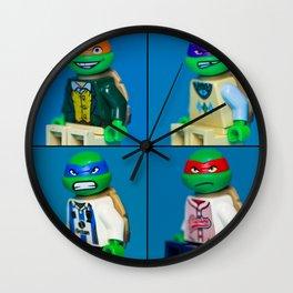 Dorky Teenage Yearbook Turtles Wall Clock
