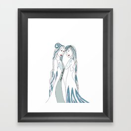 Gemini / 12 Signs of the Zodiac Framed Art Print