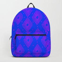 Mudcloth Dotty Diamonds in Neon Purple + Cobalt Backpack