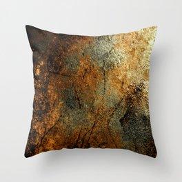 Rust Texture 69 Throw Pillow