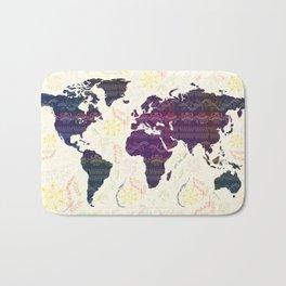 Map Bath Mat