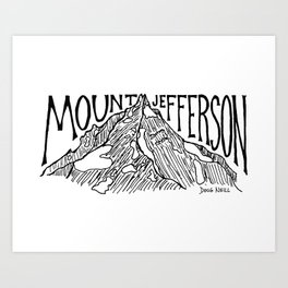 Mount Jefferson Art Print