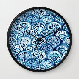 DEEP LIFE Mermaid Scales Wall Clock