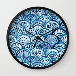 DEEP LIFE Mermaid Scales Wall Clock