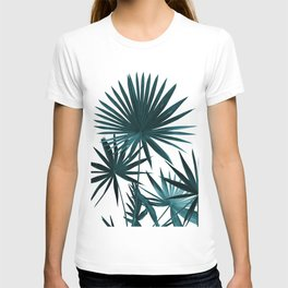 Fan Palm Leaves Jungle #1 #tropical #decor #art #society6 T-shirt