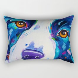 Collie close up - Border Collie Artwork Rectangular Pillow