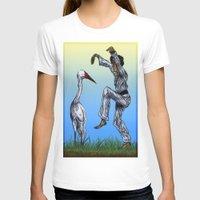 crane T-shirts featuring Crane Kick vs. Crane by Shmelanna
