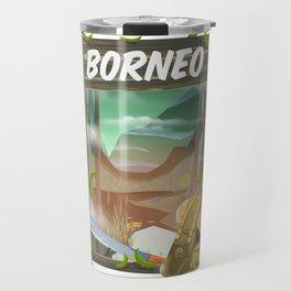 Borneo Jungle poster. Travel Mug