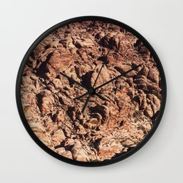 desert moutain in Red Rock Canyon Wall Clock